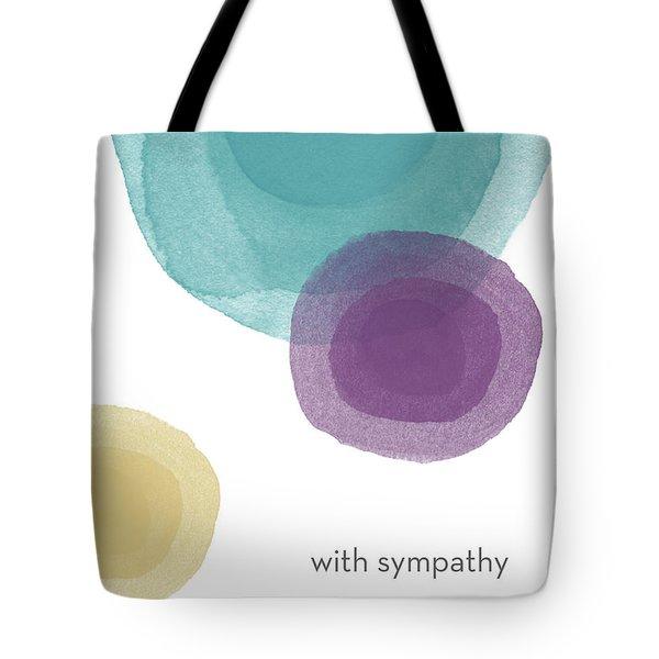 With Sympathy Circles- Art By Linda Woods Tote Bag
