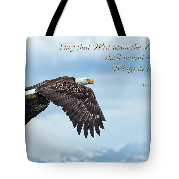 With Wings As Eagles Tote Bag