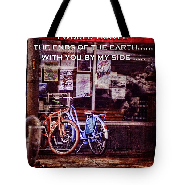 With You By My Side Tote Bag by Lesa Fine