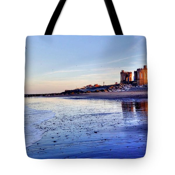 Withernsea Sunset And Moon Tote Bag