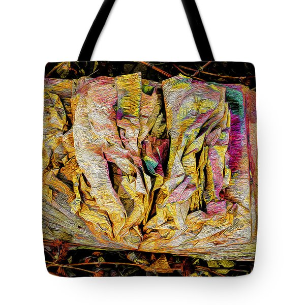 Within Pages Of Gold Tote Bag