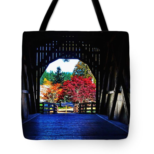 Within The Pass Creek Covered Bridge Tote Bag
