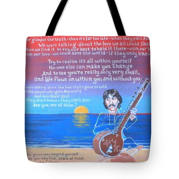 Within You Without You Tote Bag