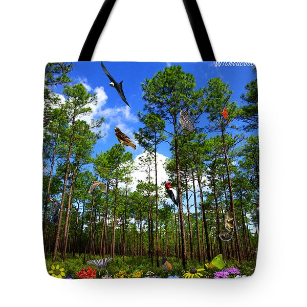 Withlacoochee State Forest Nature Collage Tote Bag