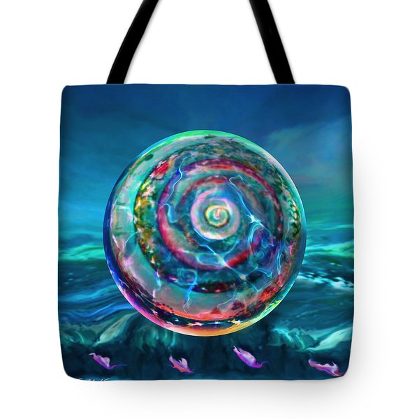 Tote Bag featuring the painting Withstanding Orby Weather by Robin Moline