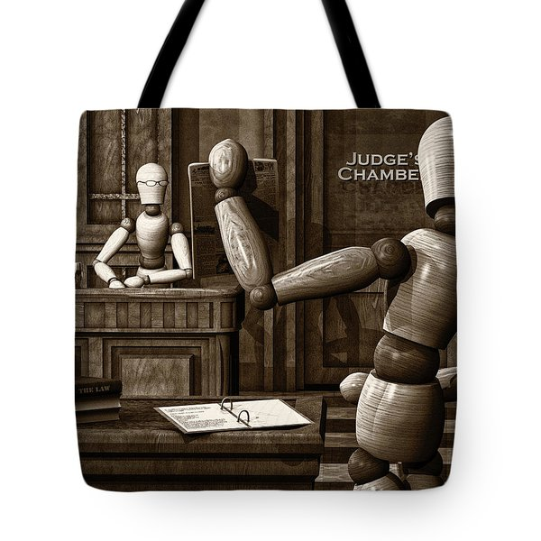 Witness For The Prosecution Tote Bag by Bob Orsillo