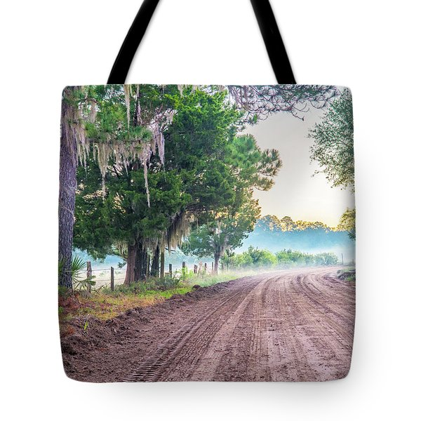 Witsell Rd - Church Field Fog Tote Bag