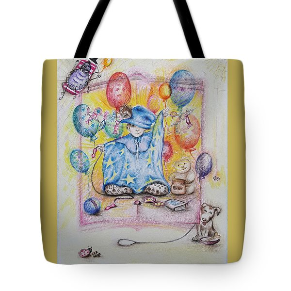 Wizard Boy Tote Bag by Rita Fetisov