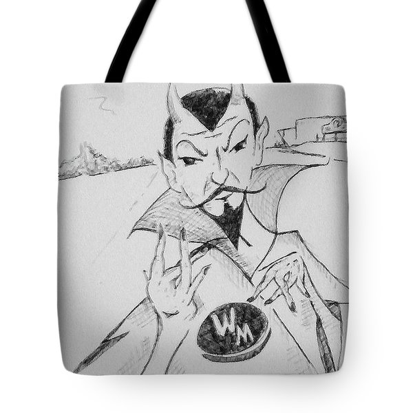 Wm Blue Devils Sign Tote Bag