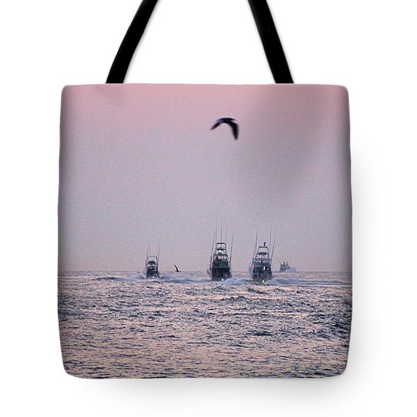 Tote Bag featuring the photograph Wmo 2018 Under Pink Skies by Robert Banach
