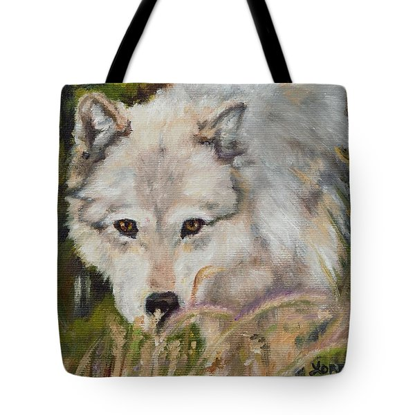 Wolf Among Foxtails Tote Bag