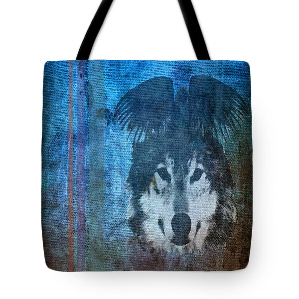 Wolf And Raven Tote Bag by Thomas M Pikolin
