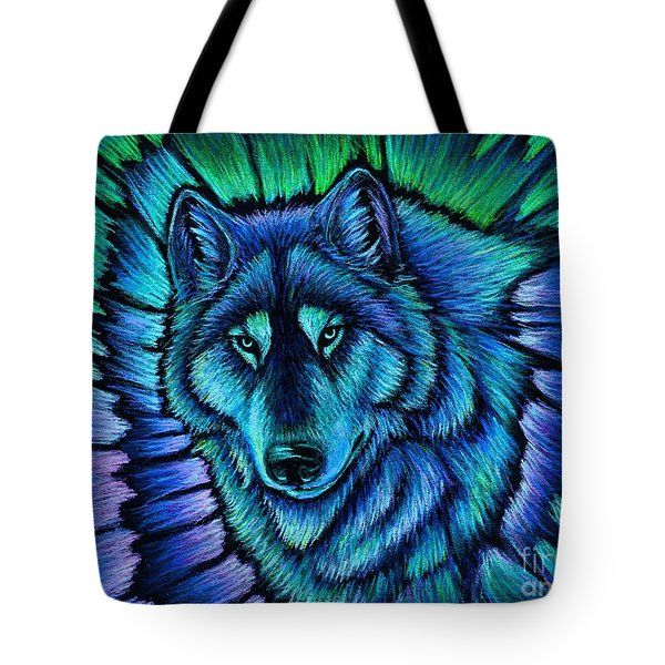 Wolf Aurora Tote Bag