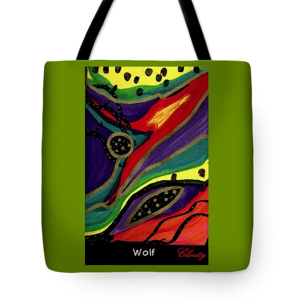 Tote Bag featuring the painting Wolf by Clarity Artists
