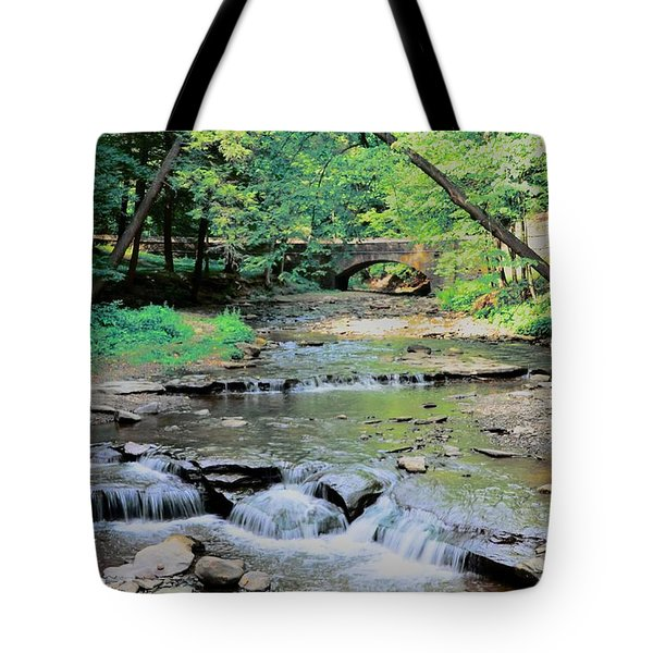Wolf Creek Tote Bag by Kathleen Struckle