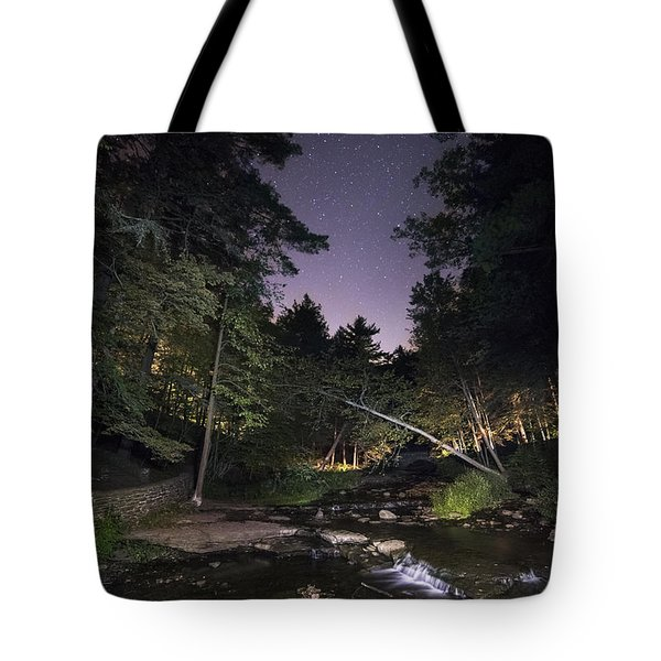 Tote Bag featuring the photograph Wolf Creek Starry Night by Mark Papke