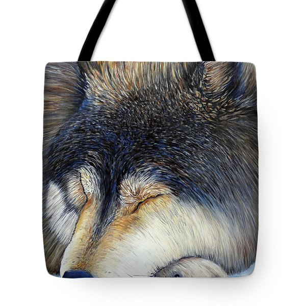 Wolf Dreams Tote Bag by Brian  Commerford