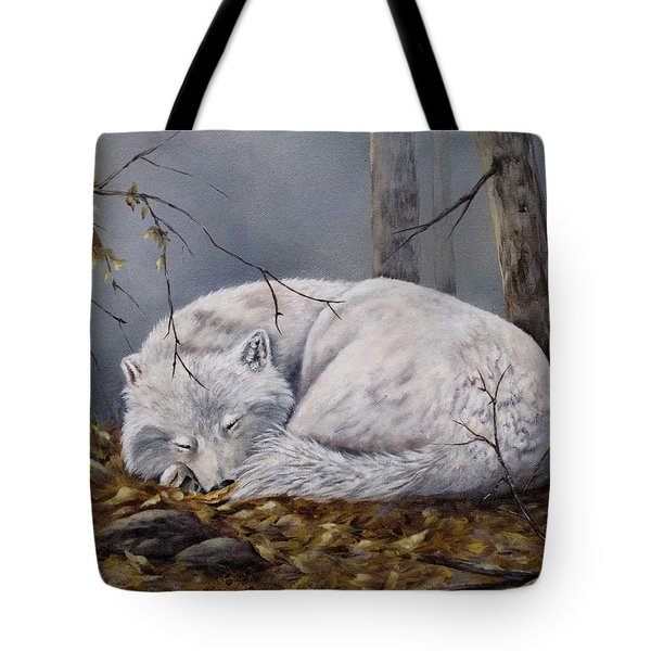 Wolf Dreams Tote Bag by Mary McCullah