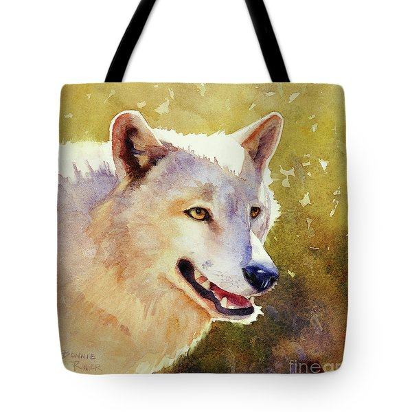 Wolf In Morning Light Tote Bag