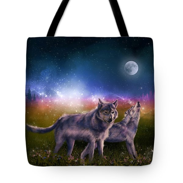 Wolf In The Moonlight Tote Bag