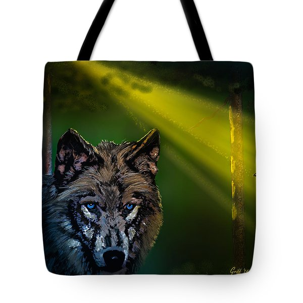 Wolf Of The Dark Wood Tote Bag