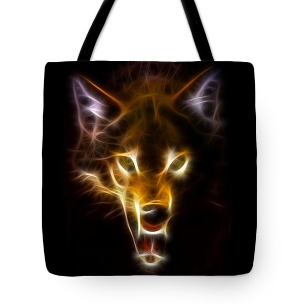 Wolf Ready To Attack Tote Bag by Pamela Johnson