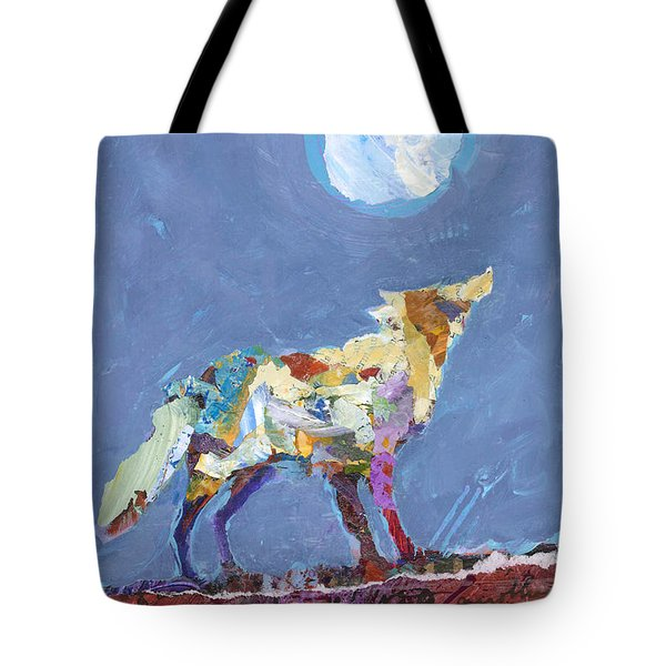 Tote Bag featuring the painting Wolf by Shelli Walters