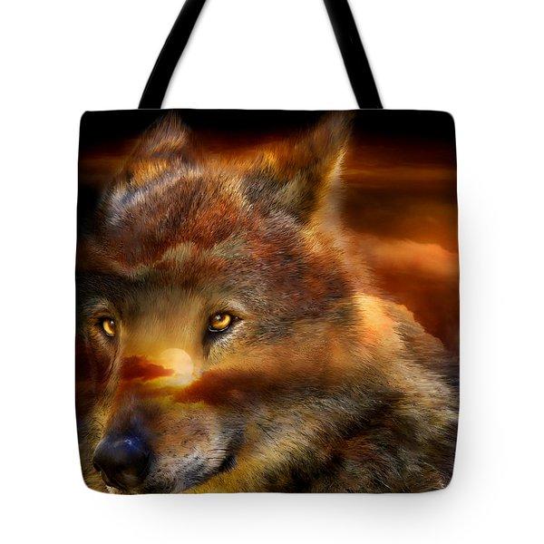 Wolfland Tote Bag by Carol Cavalaris