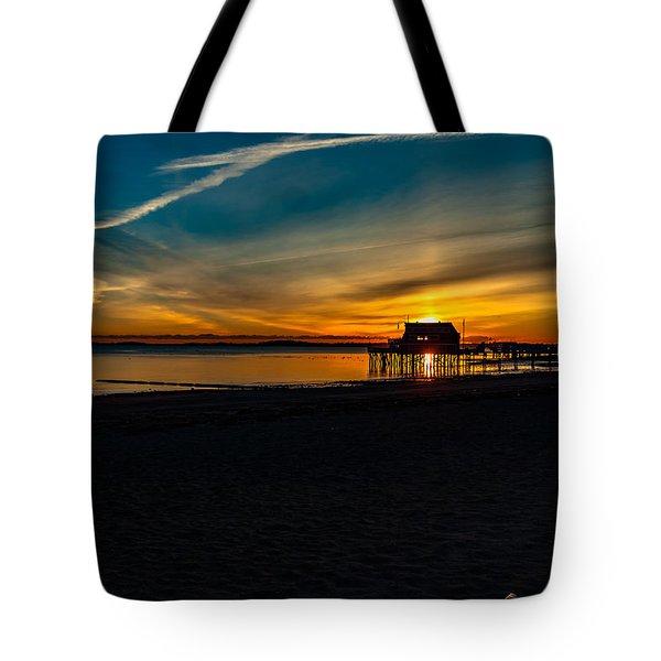 Wollaston Beach Sunrise 3 Tote Bag
