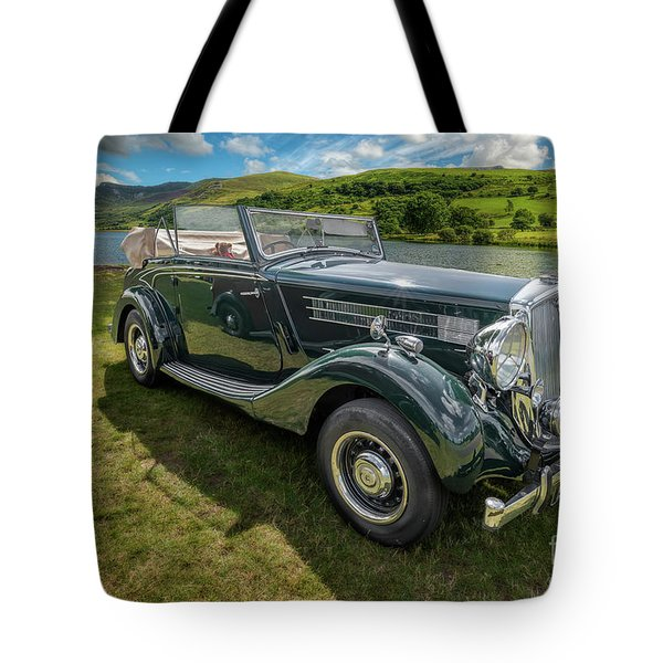 Tote Bag featuring the photograph Wolseley Classic Car by Adrian Evans