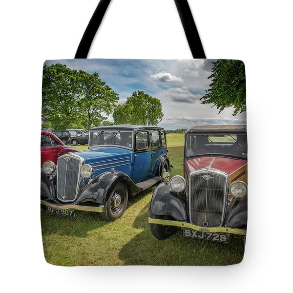 Tote Bag featuring the photograph Wolseley Motors by Adrian Evans