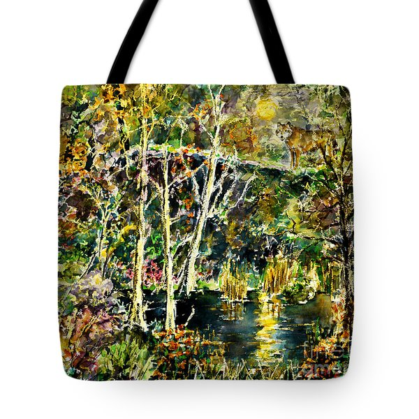 Wolven Moon Tote Bag