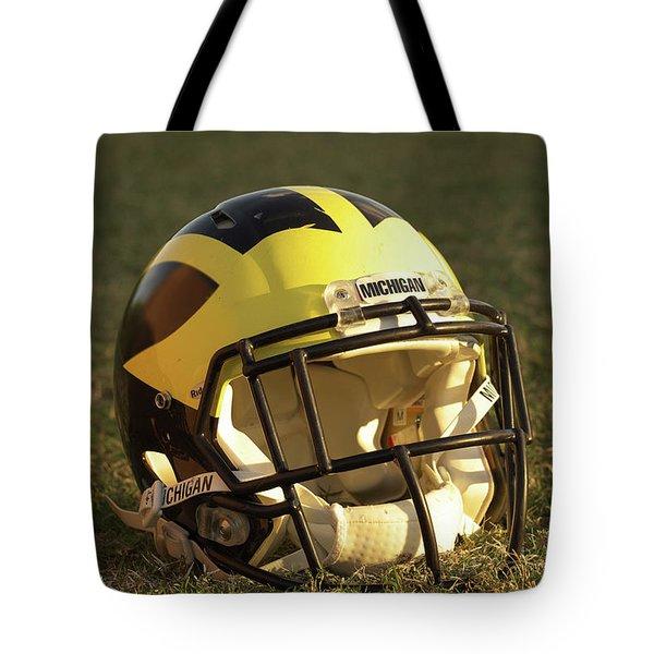 Wolverine Helmet In Morning Sunlight Tote Bag