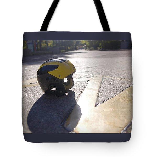 Wolverine Helmet On The Diag Tote Bag