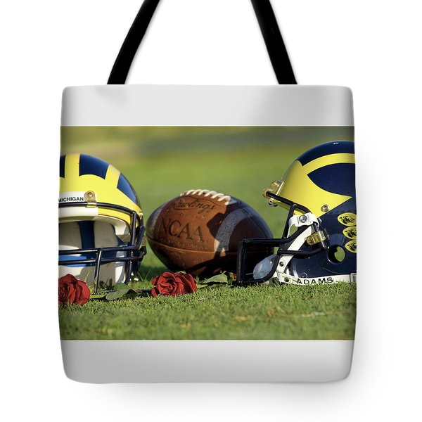 Wolverine Helmets And Roses Tote Bag