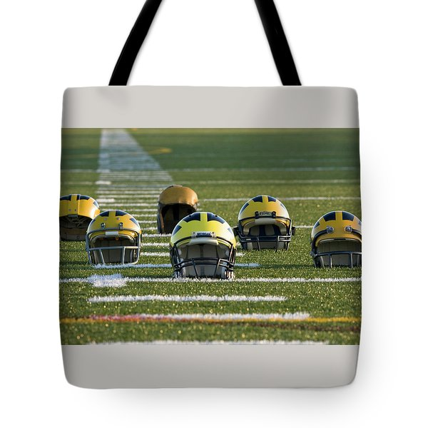 Wolverine Helmets Throughout History On The Field Tote Bag