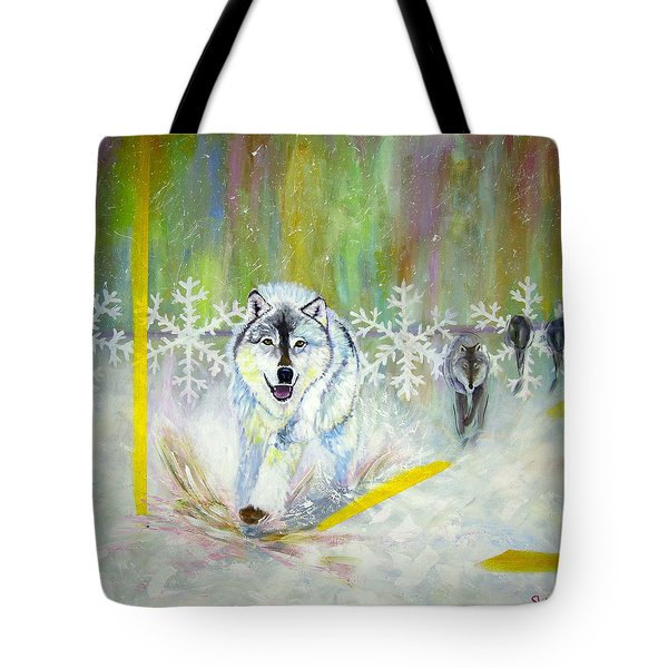 Wolves Approach Tote Bag