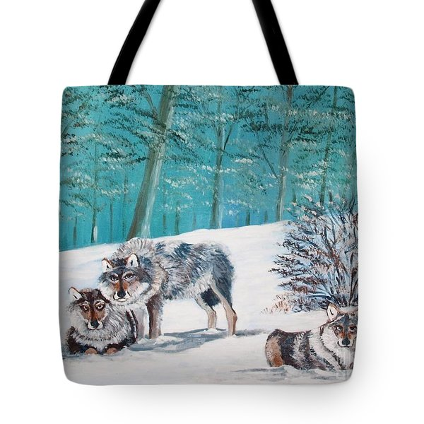 Wolves In The Wild Tote Bag