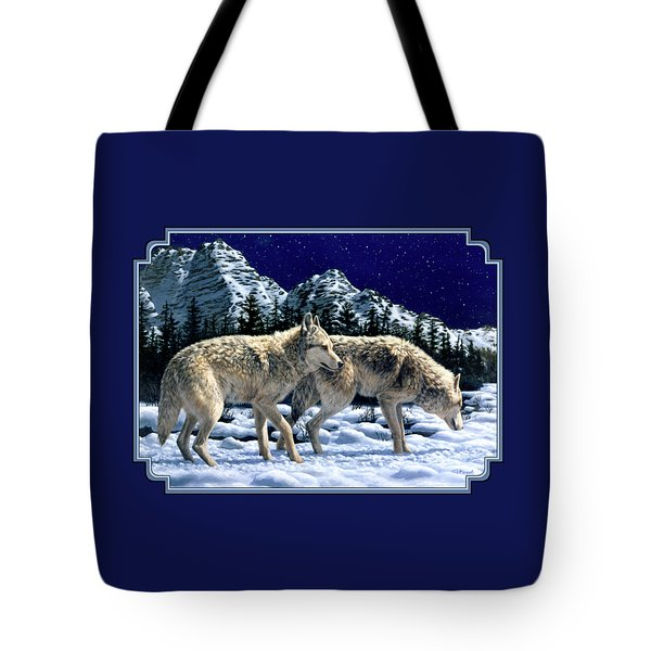 Wolves - Unfamiliar Territory Tote Bag by Crista Forest
