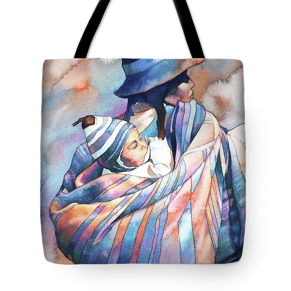 Woman And Child- Peru Tote Bag