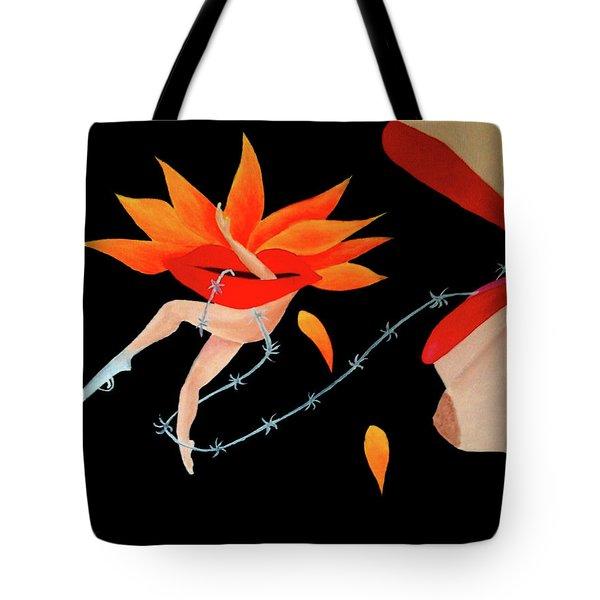 Woman And Establishment Tote Bag