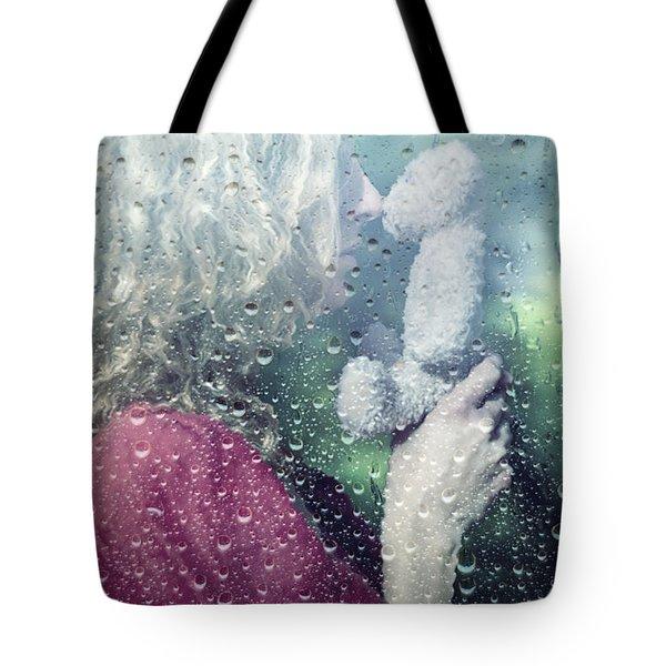 Woman And Teddy Tote Bag by Joana Kruse