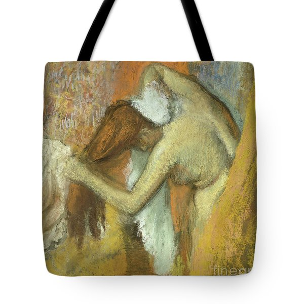 Woman At Her Toilette Tote Bag