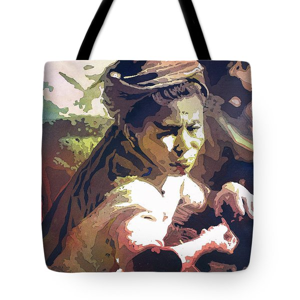 Woman At Market- Myanmar Tote Bag