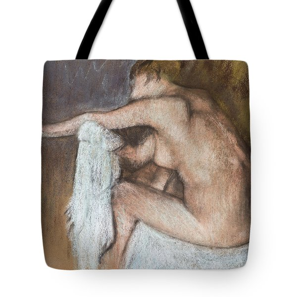 Woman Drying Her Arm Tote Bag by Edgar Degas