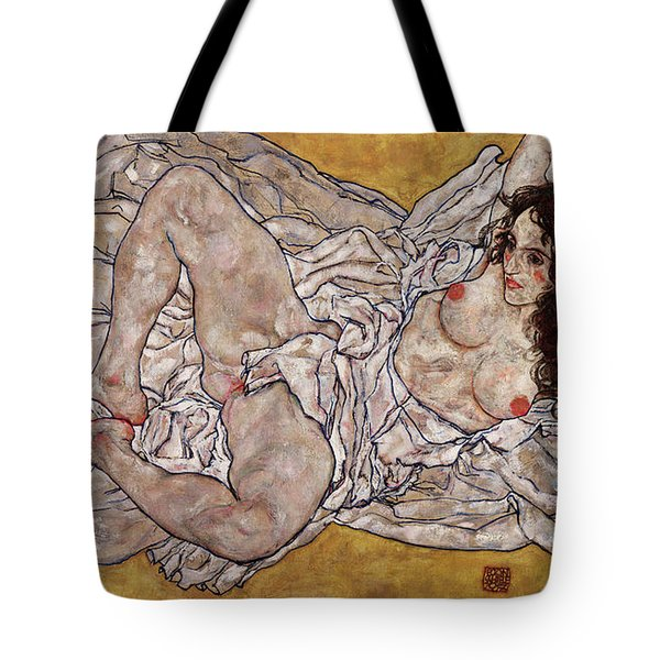 Reclining Woman Tote Bag