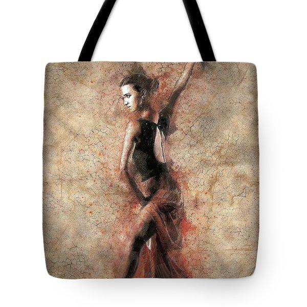 Woman Flamenco Dancer Tote Bag