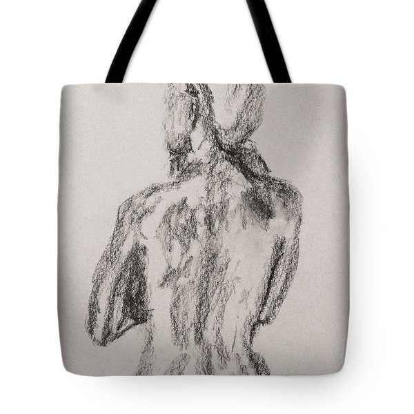 Woman From Behind Tote Bag
