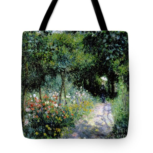 Woman In A Garden Tote Bag
