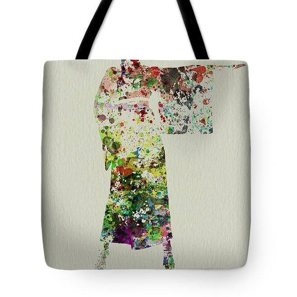Woman In Kimono Tote Bag by Naxart Studio